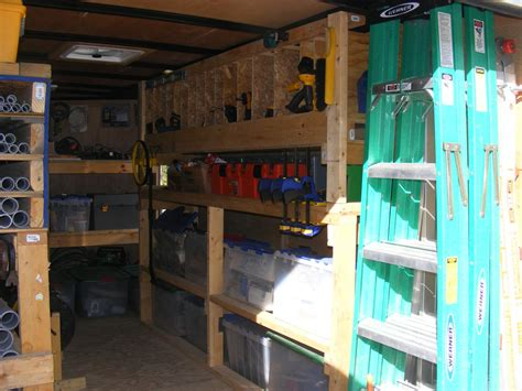 cargo trailer shelving ideas