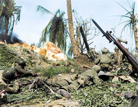 pacific color stunning colorized pictures show the pacific war