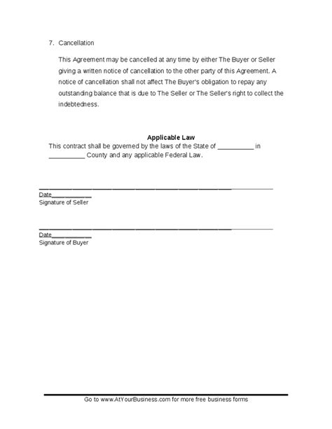 Credit Repair Contract Florida credit agreement template 28 images sle revolving