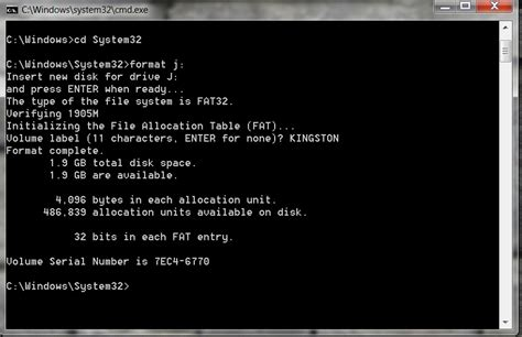 format cd via cmd how to format a flash disk using cmd