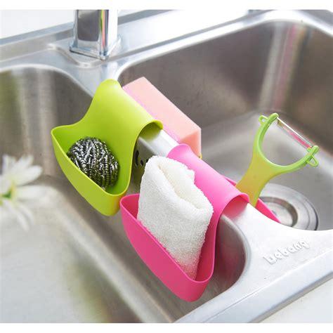 Plastis Sikat Cuci Piring Berbagai Warna cutevina wadah plastik serbaguna tempat spons cuci piring perlengkapan wastafel elevenia