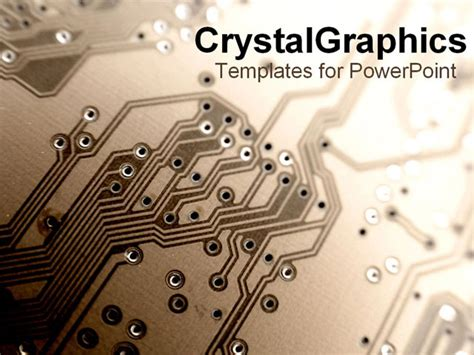circuit board template brown up of circuit board powerpoint template