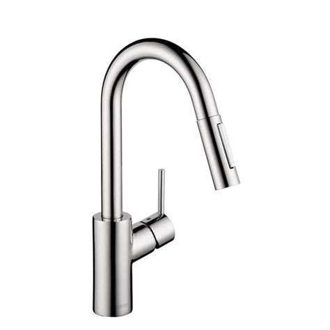 hansgrohe kitchen faucets hansgrohe focus prep single handle pull sprayer kitchen faucet in chrome 04506001 the