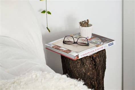 Tree Stump Nightstand Fall Decor How To Style A Tree Trunk At Home