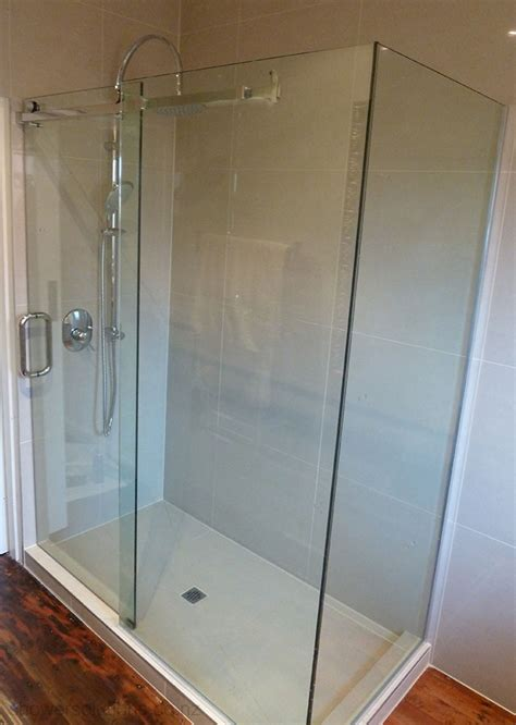 Sliding Frameless Glass Shower Doors Decorating Sliding Glass Shower Doors Frameless