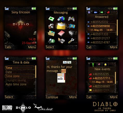 love themes sony ericsson sony ericsson theme diablo by lokidest on deviantart