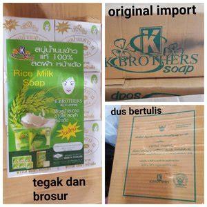 Sabun Beras Whitening K Kbrother Ori Thailand jual beli sabun beras ori thailand k brothers baru