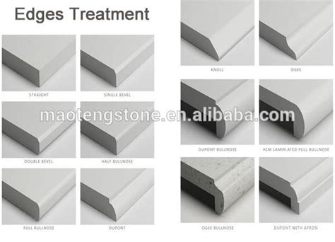 How To Quartz Countertop Edges by High Quality Eased Polished Edges Factory Products White