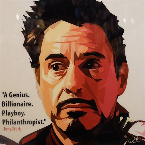Iron Is Tony Stark tony stark poster plaque quot a genius billionaire
