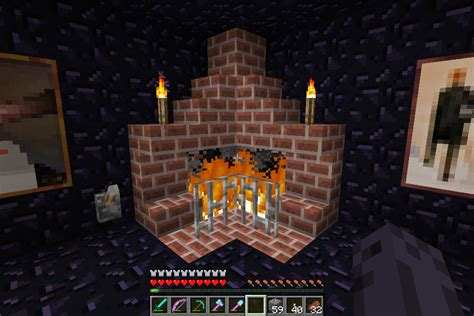 Minecraft How To Make Fireplace by Minecraft Place Arqade
