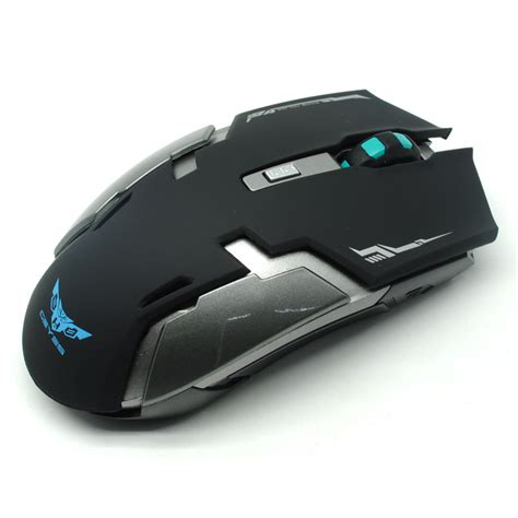 Mouse Wireless Gaming geyes gaming mouse wireless 1600 dpi black jakartanotebook