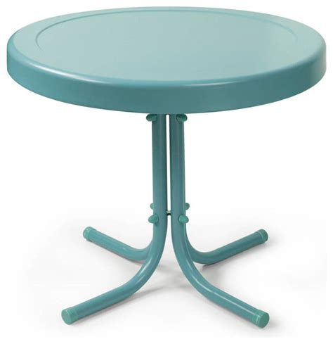 Blue Patio Table by Crosley Furniture Retro Metal 20x20 Side Table In