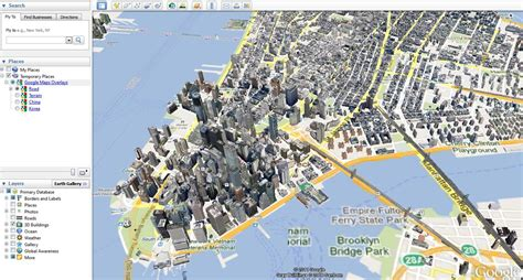 turning  map view  google earth geographic