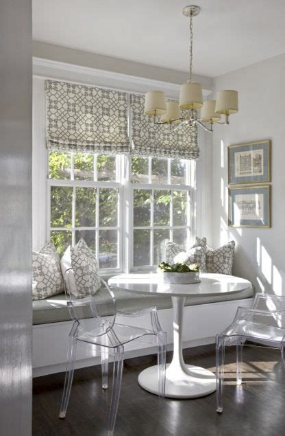 white breakfast nook gray breakfast nook white trim lucite chairs built in