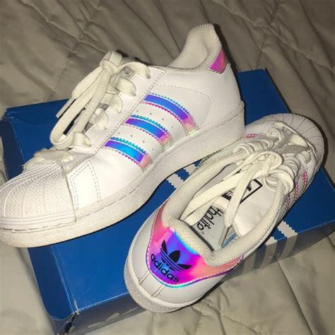adidas shoes rainbow metallic poshmark