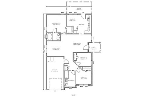 Basement Floor Plans 900 Sq Ft Planos De Casa Tradicional De Techo A Dos Aguas