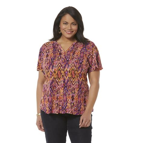 Blouse Tribal 1 s plus y neck blouse tribal sears
