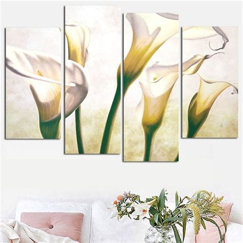 panel combined flower canvas wall art picture calla lily