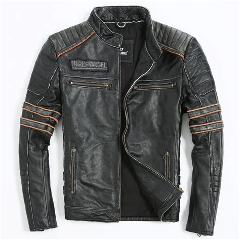leather motorcycle clothing embroidery skull motorcycle clothing s leather jacket