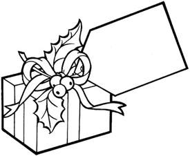 christmas gift coloring pages 2 purple kitty