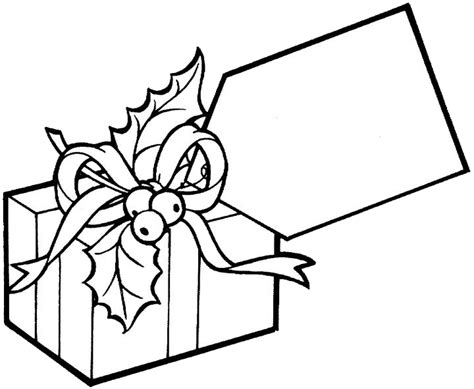 free coloring pages of present
