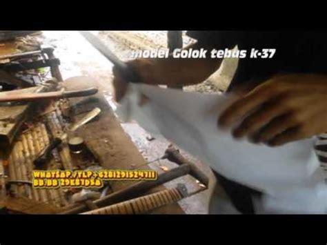 Golok Sembelih Buatan Banten golok tebas k 37 tes ketajam dan kekuatan bilah buatan golok banten kang asep