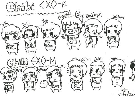 exo chibi coloring pages mobile exo sehun coloring pages