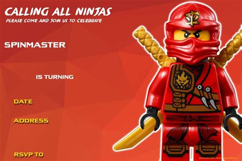 Best Resume Templates Etsy by Ninjago Birthday Invitations Template Resume Builder