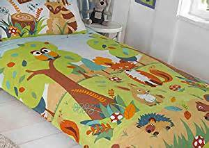 120x150 duvet woodland animals toddler cotbed duvet set 120x150 fox