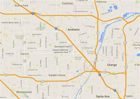 map of anaheim california maps of disneyland resort in anaheim california