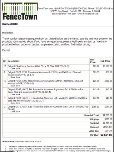Fence Estimate Template Free Printable Business Templates Free Fence Contract Template