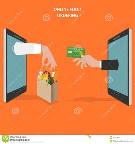 vector flat customer office concept food ordering flat vector concept stock vector image 57651824