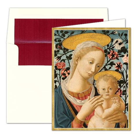 madonna and child personalized christmas greeting cards
