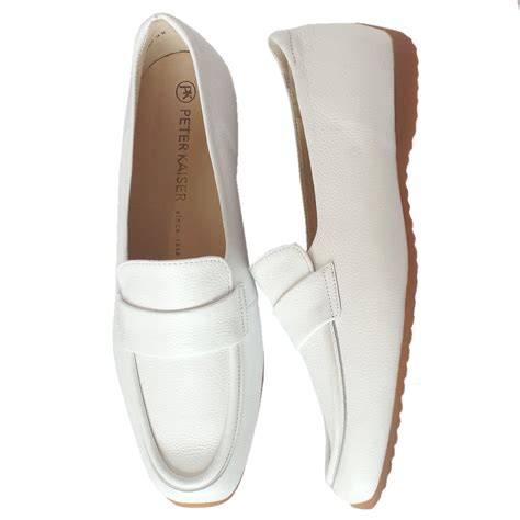 white leather loafers womens kaiser rienzi s smart casual loafers in