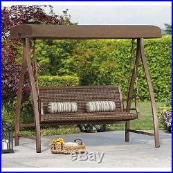 outdoor glider bench with canopy patio swing canopy wicker rattan patio furniture outdoor