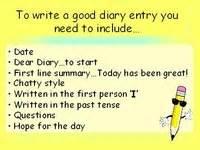 writing a diary ks1 ks2 powerpoint teaching diary