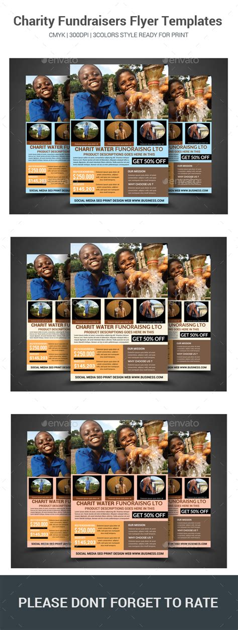 Charity Fundraisers Flyer Templates By Sanaimran Graphicriver Fundraiser Flyer Templates Photoshop