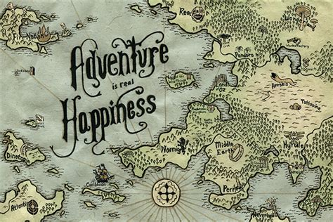 adventure map adventure map on behance