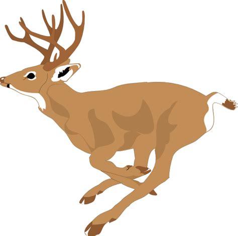 Clipart Of A Deer deer running fast clip at clker vector clip