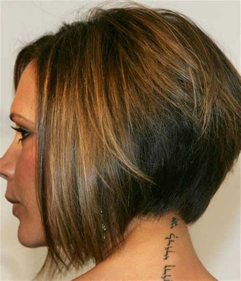 graduated a line bob front view best victoria beckham bob hairstyles short hairstyles