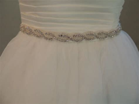 sash wedding dress belt rhinestones beaded