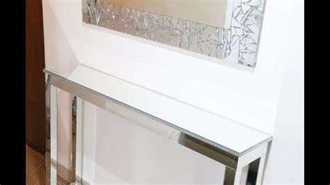 mirror console table diy mirrored console table diy room decor ideas