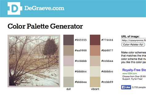 color palette generator from image color palette generator degraeve lengkap