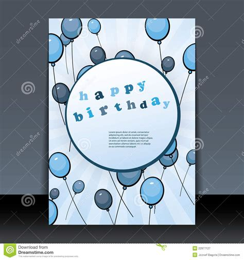 Birthday Card Cover Design birthday card flyer or cover design stock vector image