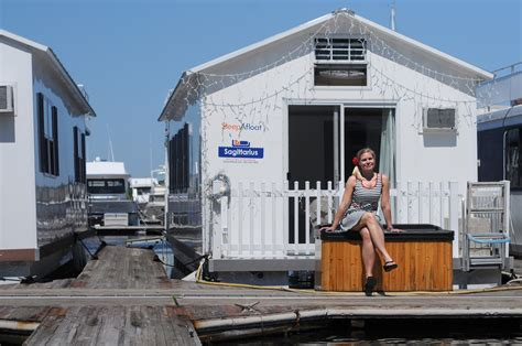 living in a house boat houseboat living floats their boats boston herald