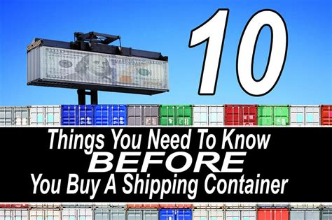 what i need to know before buying a house 10 things you need to know before you buy a shipping container