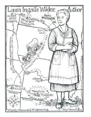 coloring pages little house on the prairie cheryl harness coloring pages