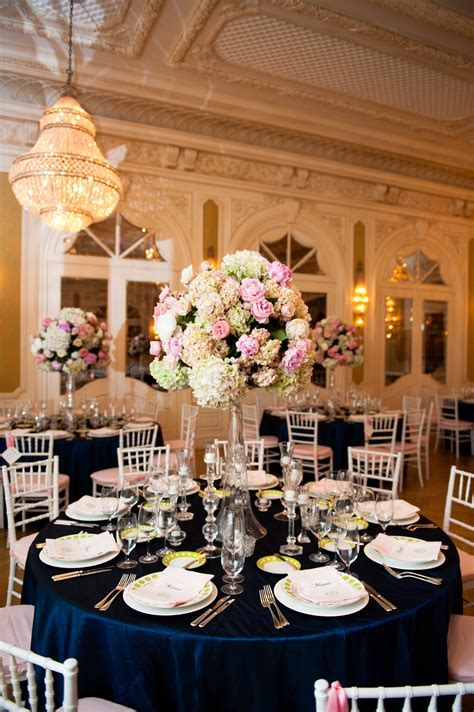 Navy and Pink Themed Wedding www.seaisland.com #seaisland