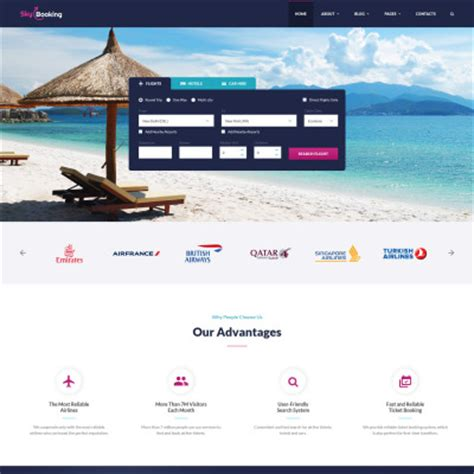 Web Site Templates Web Page Templates Travel Booking Website Templates Free