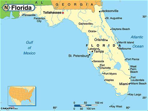 political map of florida mrs cady florida